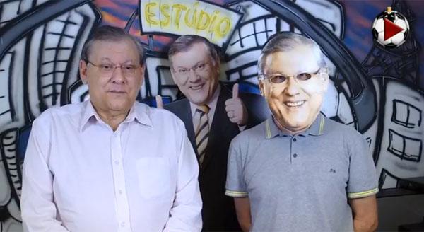 Apresentador criticou a arbitragem da Libertadores da América. Foto: Reprodução