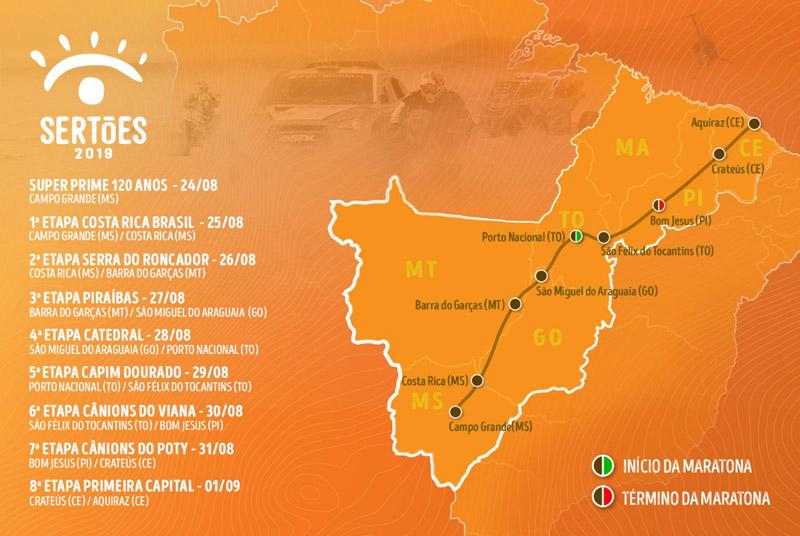 Maior rali das Américas começa dia 25 de agosto em Campo Grande-MS. Imagem: Divulgação