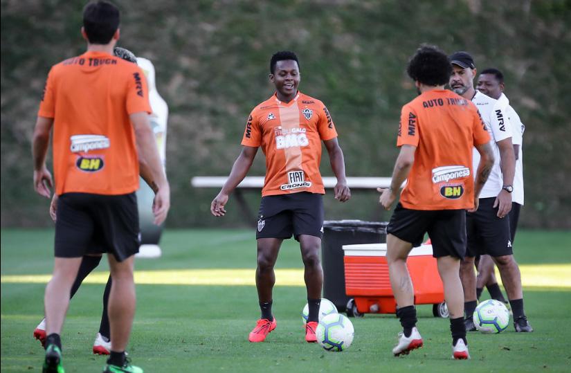 Equipe mineira treina para enfrentar o Fluminense no Independência. Foto: Agência Galo/Clube Atlético Mineiro