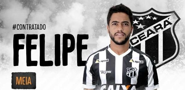 Revelado pelo Palmeiras, Felipe defendeu o Ceará em 2016