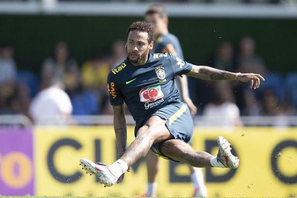 Atacante Neyma em treino da seleção brasileira. Foto: Lucas Figueiredo/CBF