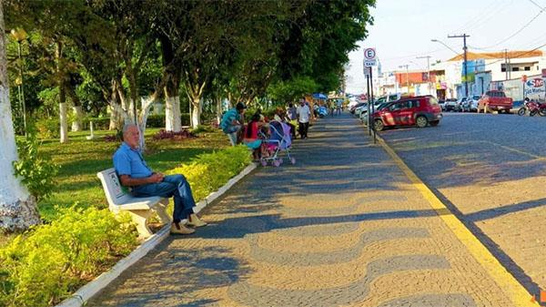Praça dos Andradas, em Muzambinho. Foto: Reprodução/Twitter
