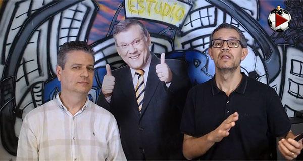 Marcos Micheletti e Frank Fortes debatem as últimas do futebol. Foto: Reporodução