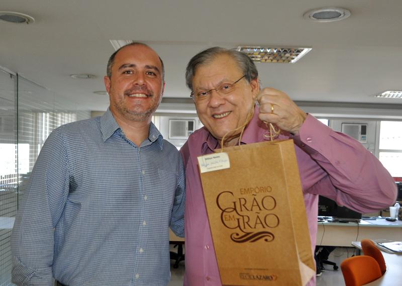 Jornalista conversou com Fábio Pereira. Foto: Marcos Júnior Micheletti/Portal TT