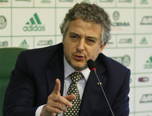 Ex-presidente do Verdão ainda pediu que a torcida apoie o time neste momento. Foto: Cesar Greco/Agência Palmeiras