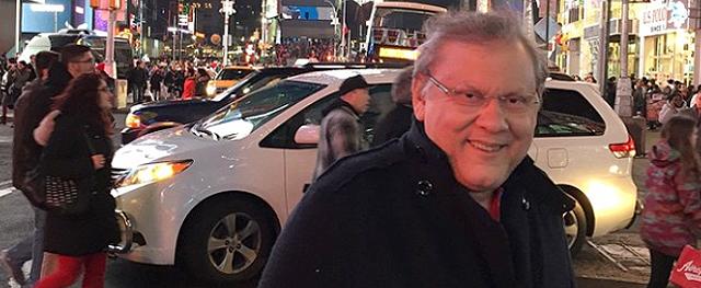 O jornalista está na gelada `Big Apple´, desde 22 de dezembro