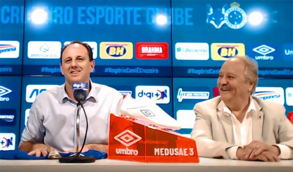 Veja o vídeo completo da coletiva do treinador. Foto: Reprodução/canal oficial do Cruzeiro