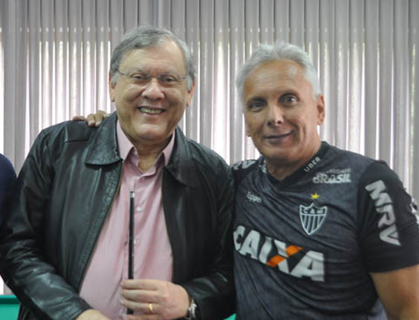 Milton Neves e Éder Aleixo, em 2018. Foto: Marcos Júnior Micheletti
