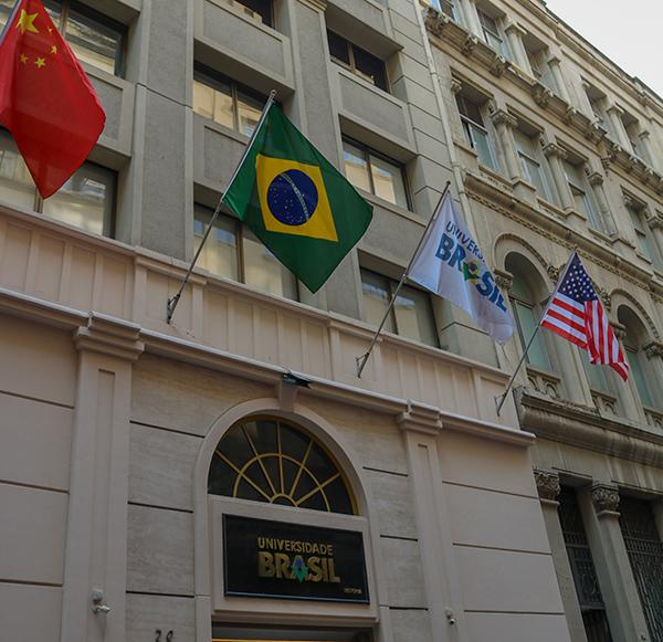 Fachada da sede da Universidade Brasil, no Centro de São Paulo. Foto: Divulgação
