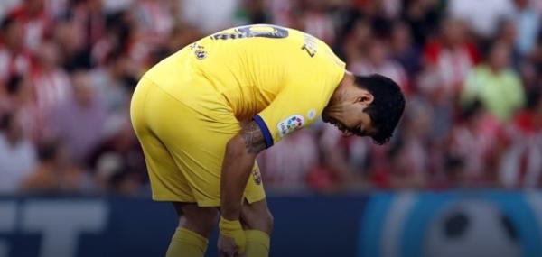 Suárez se lesionou na derrota para o Athletic Bilbao. Foto: site oficial do Barcelona