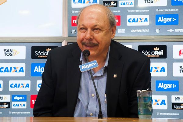 José Carlos Peres participou de programa de rádio em São Paulo. Foto: Ivan Storti/Santos FC