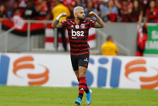 Artilheiro do Flamengo, Gabigol virou desfalque de última hora. Foto: Alexandre Vidal / Flamengo