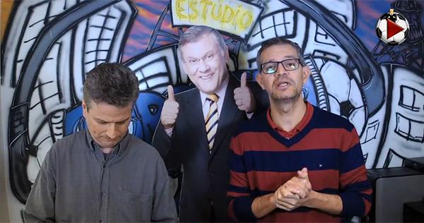 Marcos Micheletti e Frank Fortes debatem jogos da Libertadores. Foto: Reprodução
