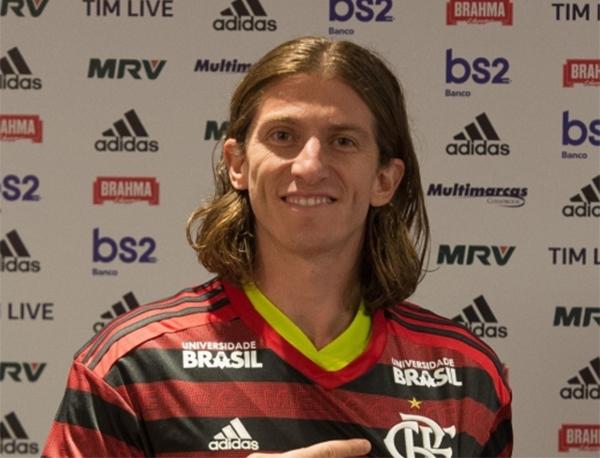 Filipe Luís, que tem 33 anos, chegou ao Flamengo há aproximadamente um mês. Foto: Alexandre Vidal/Flamengo