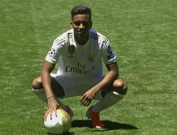 Rodrygo deixou o Santos e se apresentou ao Real Madrid em junho deste ano. Foto: Divulgação