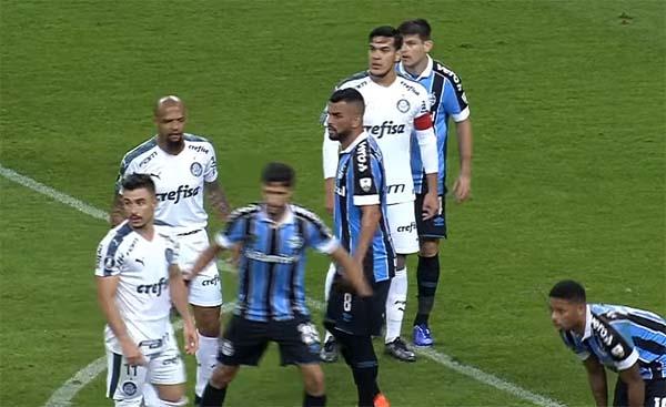 No jogo de ida, em Porto Alegre, o Verdão venceu por 1 a 0. Foto: