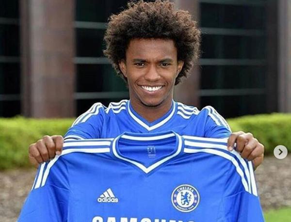 Willian chegou ao Chelsea em 2013. Foto: Reprodução/Instagram