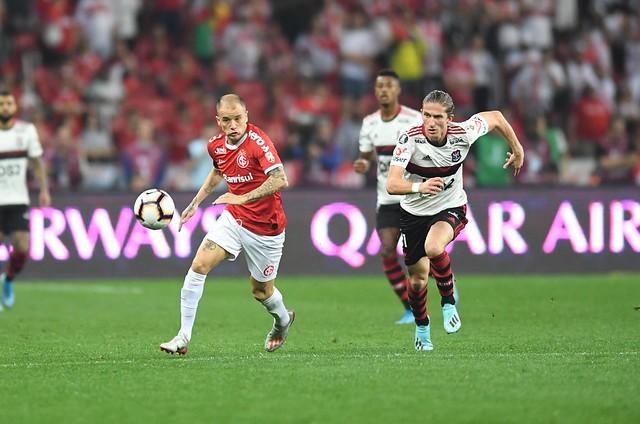 Os dois gols da partida saíram apenas na etapa final. Foto: Ricardo Duarte/Internacional