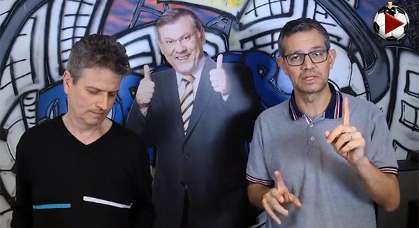 Marcos Micheletti e Frank Fortes na Live do Terceiro Tempo. Foto: Reprodução