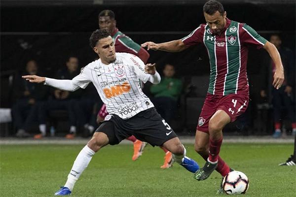 Gabriel se despediu na partida contra o Fluminense. Foto: Daniel Augusto Jr/Agência Corinthians