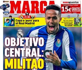Ex-tricolor está na manchete do jornal Marca desta 4a feira como possível reforço do Real Madrid