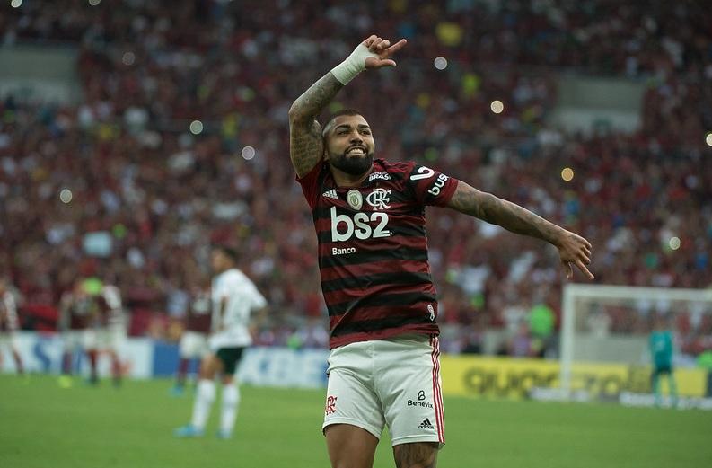 A equipe rubro-negra fez 3 a 0 diante de um de seus grandes rivais pelo título. Foto: Alexandre Vidal/Flamengo