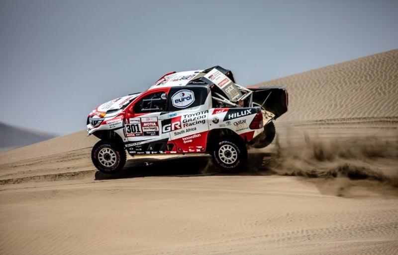 Terceira etapa teve uma longa especial, de 331 quilômetros. Foto: Toyota Gazoo Racing