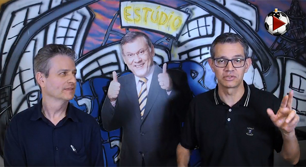 Marcos Micheletti e Frank Fortes durante a Live do Terceiro Tempo. Foto: Reprodução