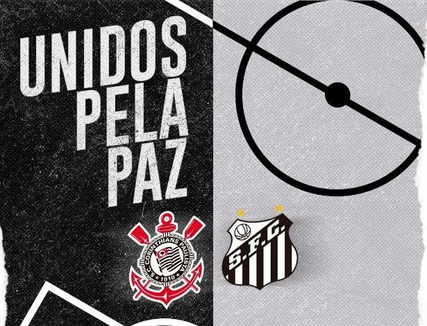 Corinthians e Santos fazem ação conjunta contra a violência no futebol. Foto: Divulgação