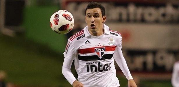 Atacante contratado do Athletico Paranaense jogou 45 minutos na Florida Cup. Foto: Rubens Chiri/saopaulofc.net