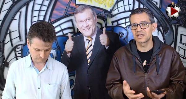 Discussão da 18ª rodada do Brasileirão na Live do Terceiro Tempo. Foto: Reprodução