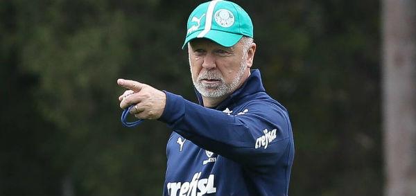 Técnico fará primeiro jogo no comando do Verdão contra o Goiás. Foto: César Greco/Palmeiras