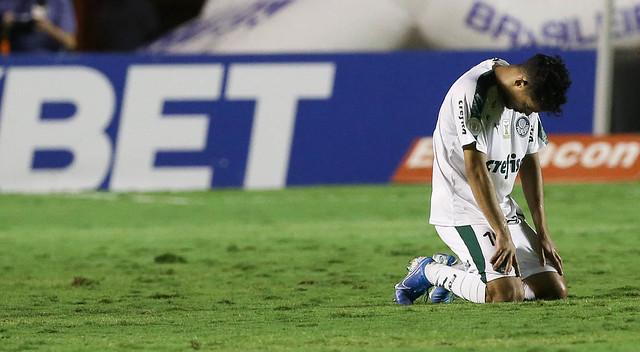Scarpa comemora o gol da vitória contra o Goiás. Foto: Divulgação/Palmeiras