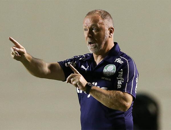 Foi a primeira exclusiva de Mano desde que assumiu o Palmeiras. Foto: Cesar Greco/Palmeiras