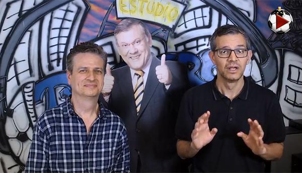 Marcos Micheletti e Frank Fortes debateram a rodada. Foto: Reprodução