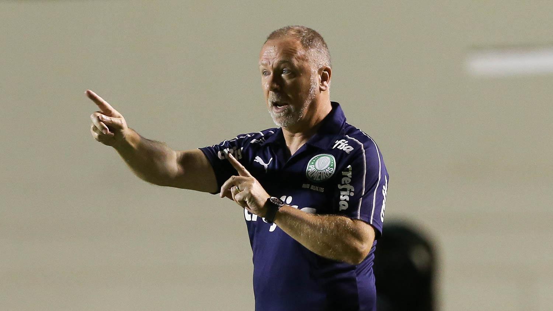 Mano Menezes comandou treino visando o jogo desta terça-feira. Foto: site oficial do Palmeiras