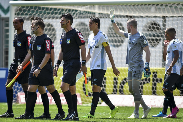 Capitão pode ficar fora de jogos contra o Flamengo. Foto: João Guilherme/Grêmio