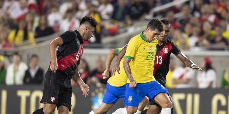 Peru marcou o único gol da partida na etapa final. Foto: Lucas Figueiredo/CBF
