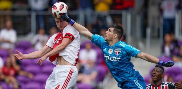 Equipe tricolor perdeu para o Ajax pela Florida Cup. Foto: Gustavo Tessaro/Florida Cup