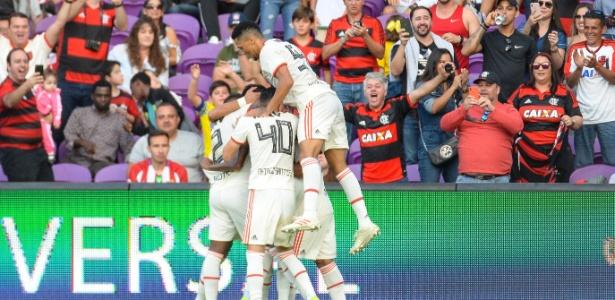 Vitória foi garantida com gol na primeira etapa. Foto: Alexandre Vidal/Flamengo