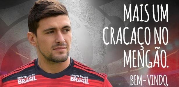 Jogador finalmente está confirmado para atuar pelo time da Gávea. Foto: Divulgação/CR. Flamengo