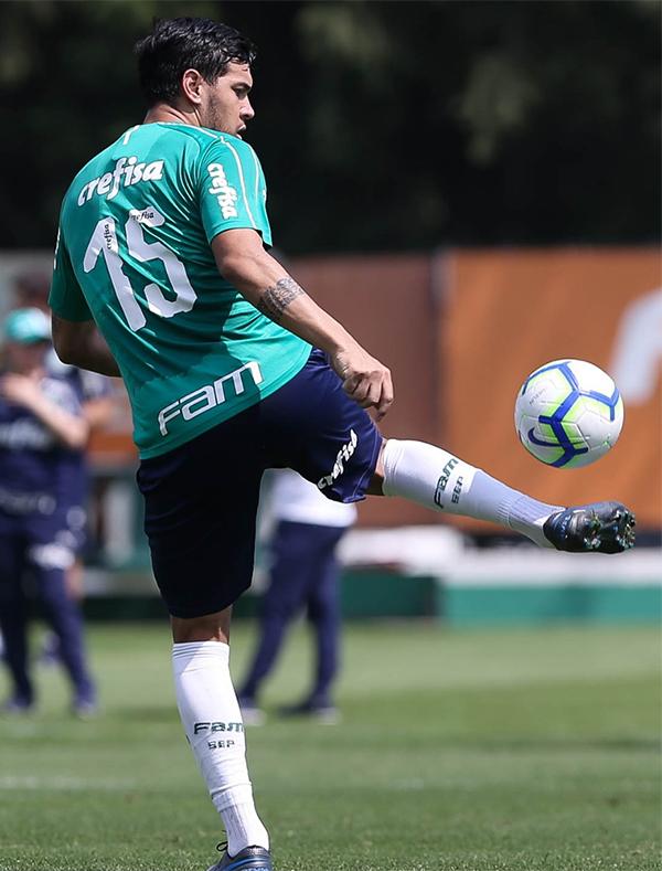 Zagueiro pode voltar à zaga do Palmeiras contra o Cruzeiro. Foto: Cesar Greco/Palmeiras