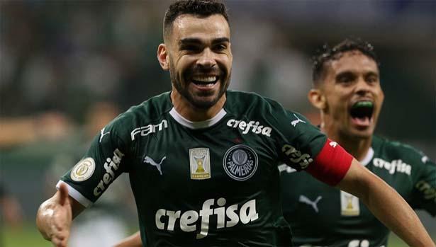 Bruno Henrique marcou o único tento da partida. Foto: site oficial do Palmeiras