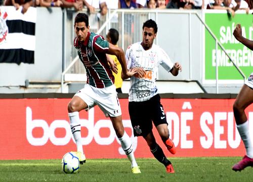 O Fluminense venceu o Corinthians, por 1 a 0, com gol marcado pelo meia Ganso. Foto: Mailson Santana/ FFC
