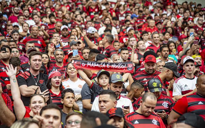 Além de liderar o ranking geral, a torcida do Flamengo está na ponta também em três regiões. Foto: Alexandre Vidal/Flamengo