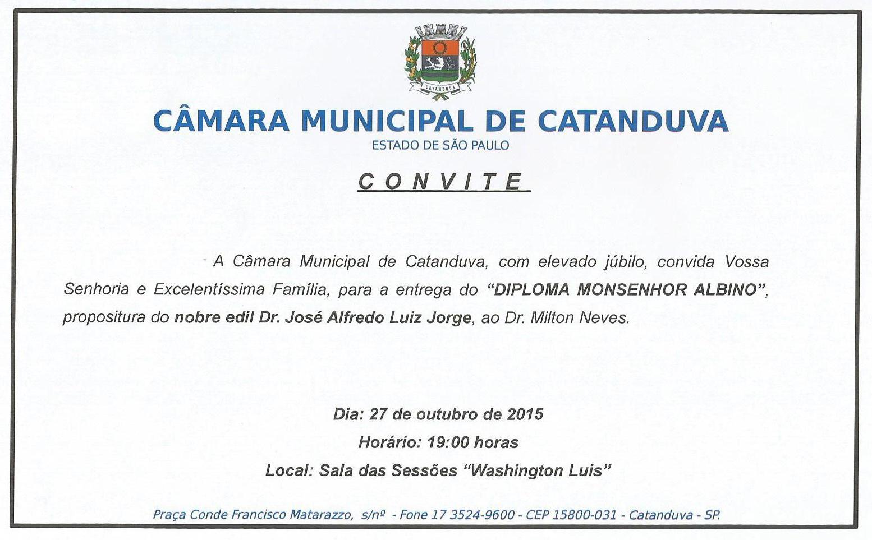 Cerimônia acontecerá nesta terça-feira (27), às 19 horas