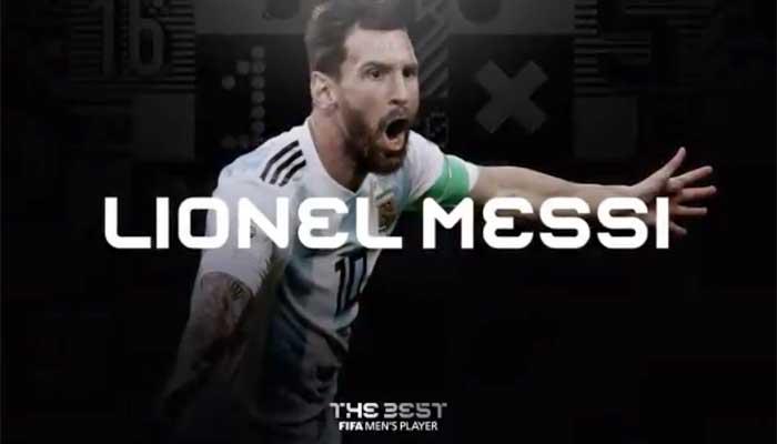 """Argentino ganhou o prêmio """"The Best"""". Foto: Reprodução"""