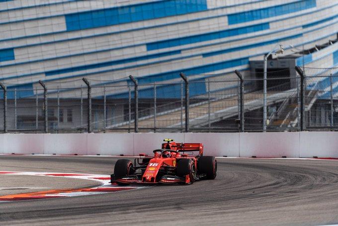 Monegasco comandou 1-2 da Ferrari em Sóchi. Foto: Scuderia Ferrari