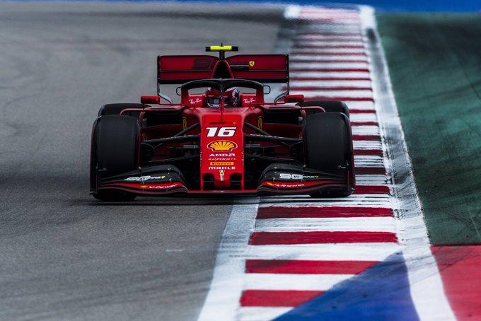 O monegasco da Ferrari foi perfeito na classificação em Sóchi. Foto: Scuderia Ferrari