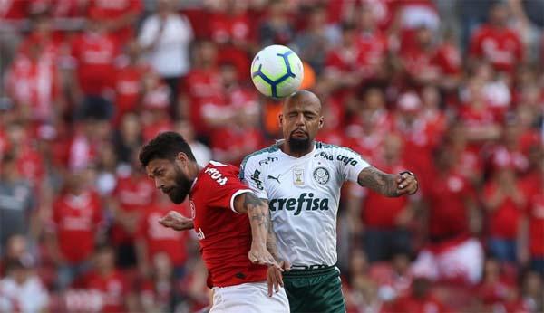 Equipes se enfrentaram neste domingo no Beira-Rio. Foto: Cesar Grego/Ag. Palmeiras/Divulgação